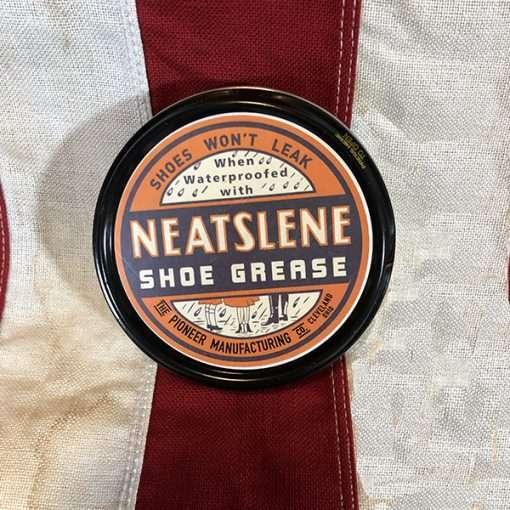 WWII Neatslene Shoe Grease Mink Oil WW2