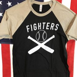 WWII Fighters Baseball Shirt WW2 AAF Army Air Force