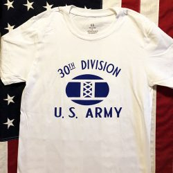 30th Division T Shirt WWII WW2 reproduction