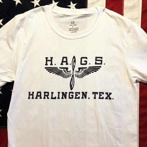WWII HAGS Harlingen Army Gunnery School Texas T shirt