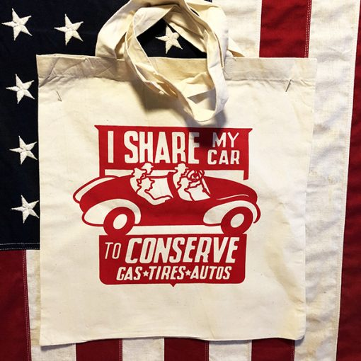 I Share my Car Tote Bag