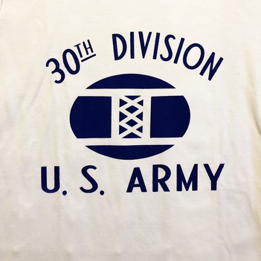 WWII T shirt 30th division design US army