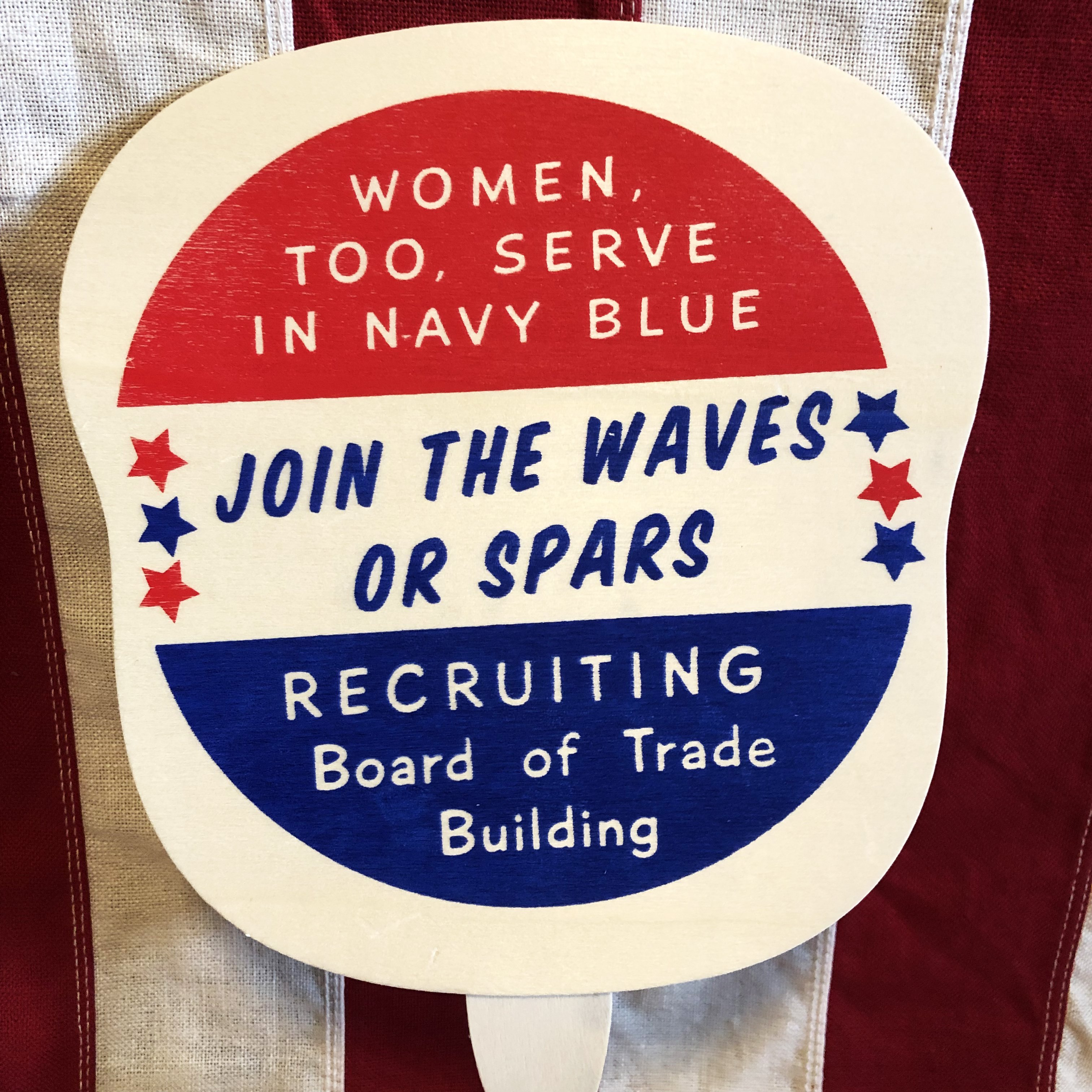 Join the WAVES or SPARS Fan, WWII - WWII Soldier