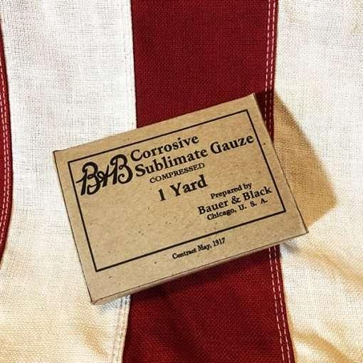 WWI B&B Corrosive Sublimate Gauze Box WW1