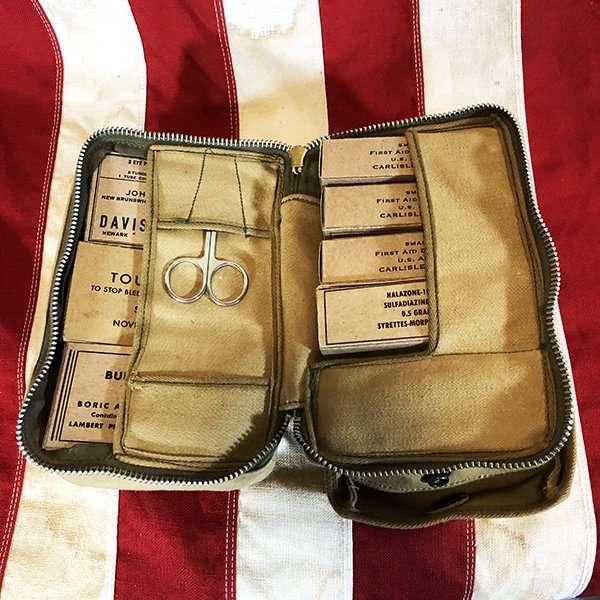 WWII Aeronautic First Aid Kit Insert / Refill Set