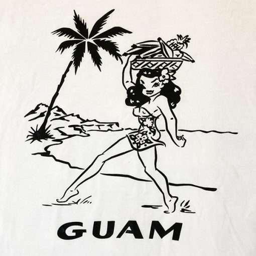 WWII Guam Girl T shirt design WW2