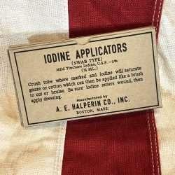 WWII Iodine Applicators Box WW2