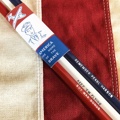 WWII 3 Slogan Pencils Buy War Bonds Keep em flying Remember Pearl Harbor WW2