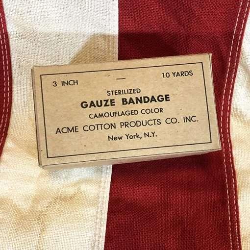 WWII Sterilized Gauze Bandage Box WW2
