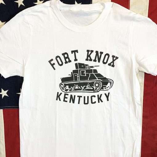 WWII Fort Knox Kentucky T Shirt US Army Tank WW2