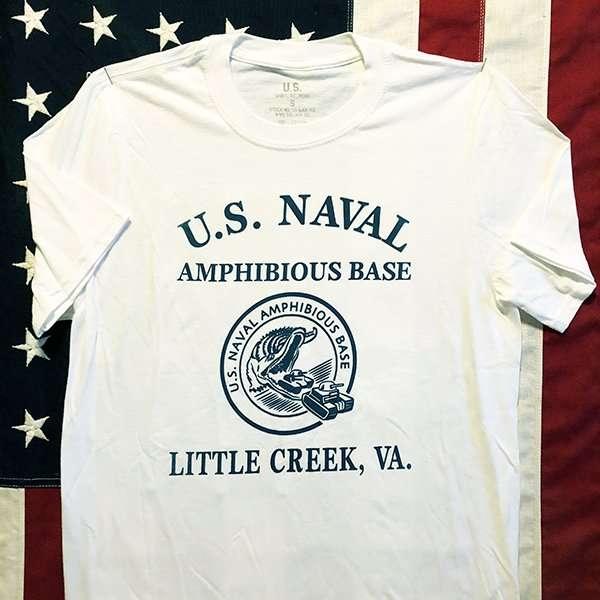 WWII U.S. Naval Amphibious Base, Little Creek T Shirt,  Men's Repro
