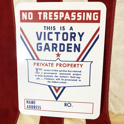 WWII Victory Garden Sign WW2