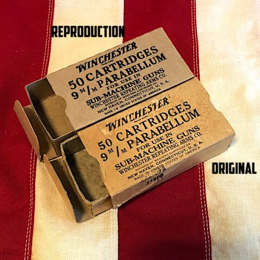 WWII Winchester Cartridge Box Original side by side Reproduction WW2