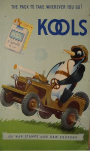 Willie the Penguin in his Willies Jeep