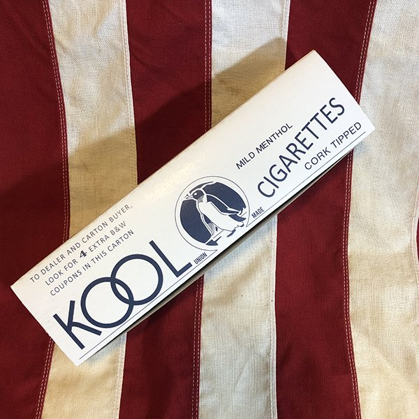 Kool Cigarette Carton, WWII US Army Reproduction