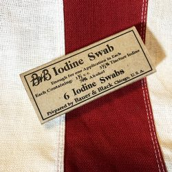 WWI B&B Iodine Swab Box WW1