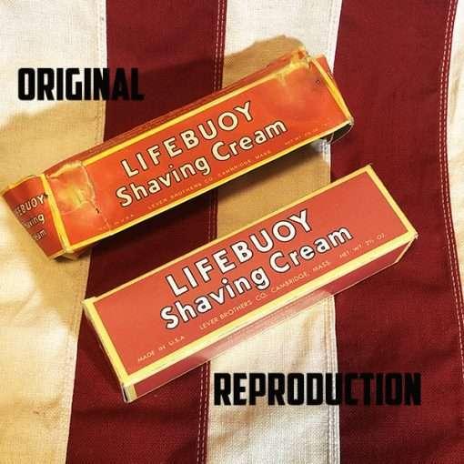 WWII Lifebuoy Shaving Cream Box Original WW2 Reproduction