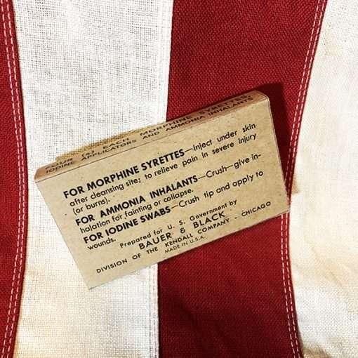 WWII Morphine Ammonia Iodine Box WW2