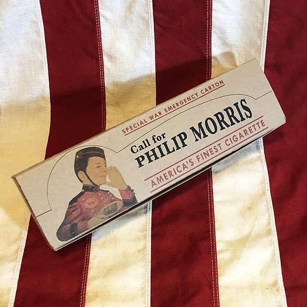WWII Philip Morris Cigarette Carton, Special War Emergency