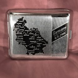 1946 German Map Cigarette Case WWII WW2