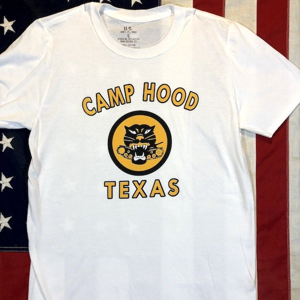 WWII Tank Destroyer Camp Hood T Shirt Reproduction, US Army