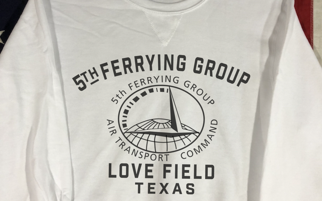 Love Field 5th Ferrying Group Sweatshirt with V notch, WWII Reproduction