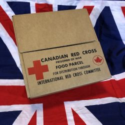 WWII Canadian Red Cross Prisoner of War Food Parcel Box WW2 British Empire
