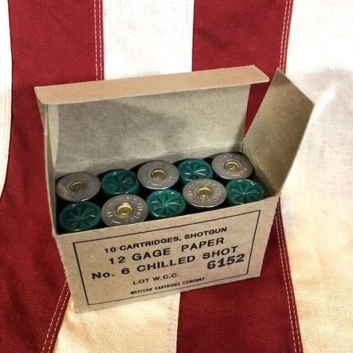 WWII Chilled Shot Shotgun Cartridges Box WW2