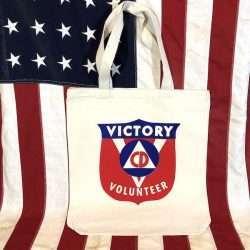 Victory Volunteer Tote Bag WWII Civil Defense WW2