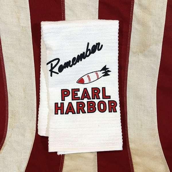 WWII Remember Pearl Harbor Towel