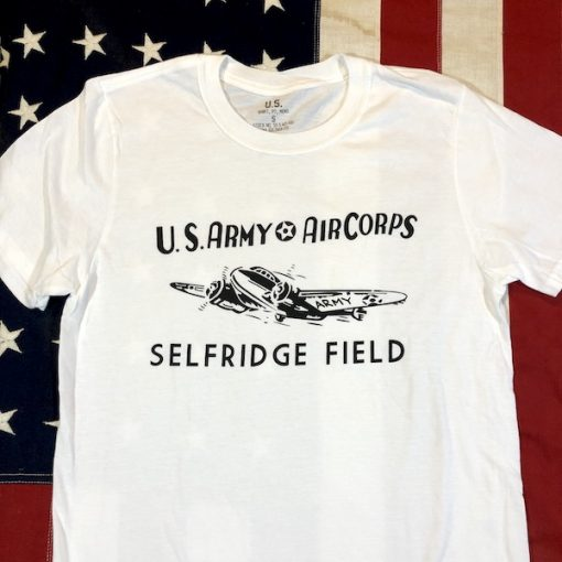 WWII Selfridge Field T Shirt WW2 MichiganReproduction US Army Air Corps