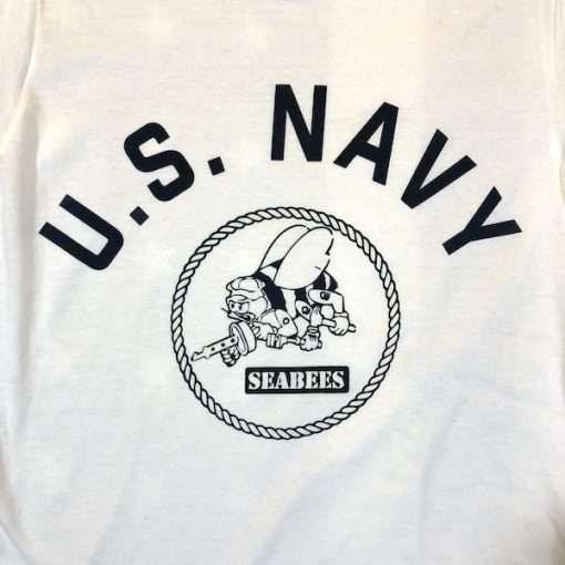 WWII USN Seabees T Shirt Design WW2