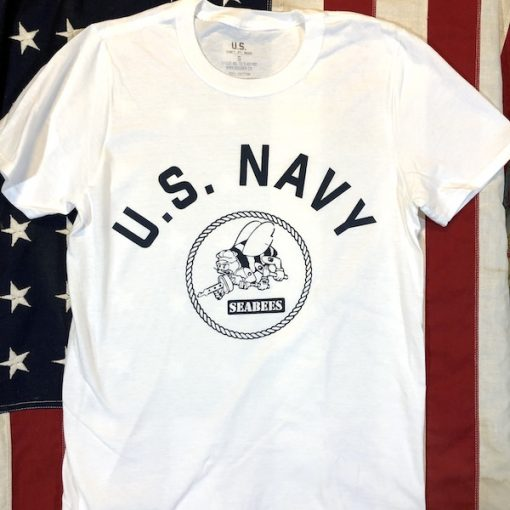 WWII USN Seabees T Shirt WW2