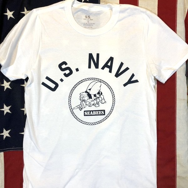 WWII USN Seabees T Shirt Reproduction, US Navy