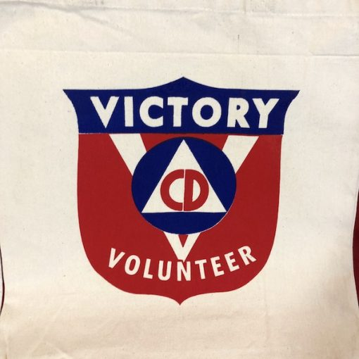WWII Civil Defense Victory Volunteer WW2 Tote Bag