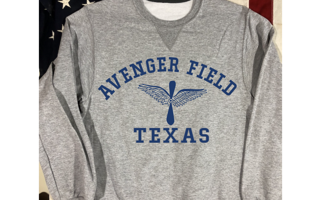 Avenger Field Texas Sweatshirt with V notch, WWII Reproduction