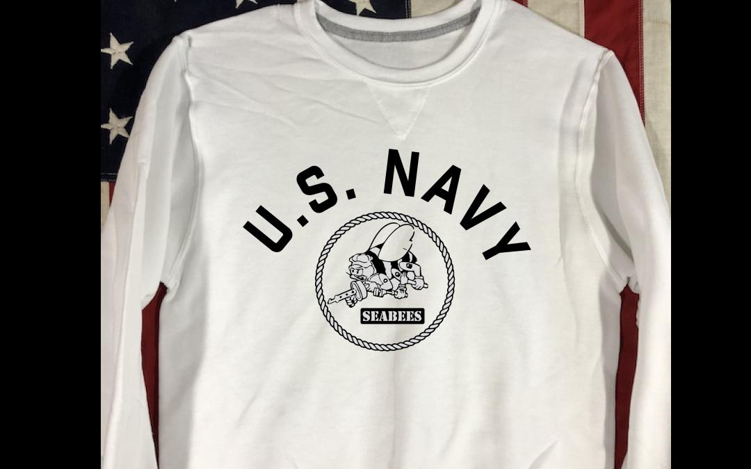 WWII US Navy Seabees Sweatshirt