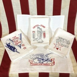 WWII Kitchen Bar Towel Set of 4 reproduction WW2