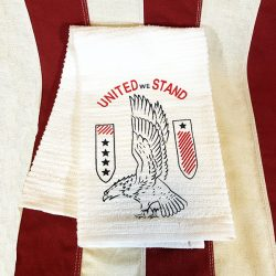 WWII United We Stand Towel Reproduction WW2