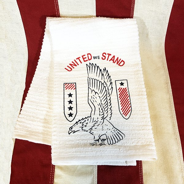 WWII United We Stand Towel Reproduction