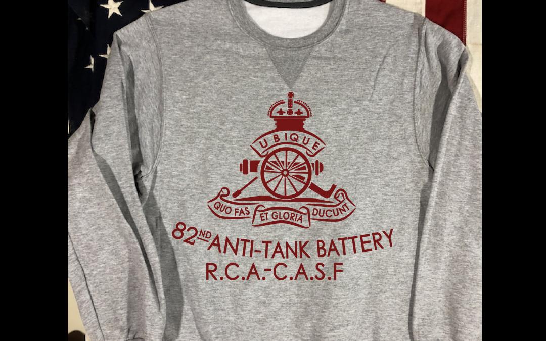 WWII 5th Royal Canadian Artillery 82nd Anti-Tank Battery Sweatshirt