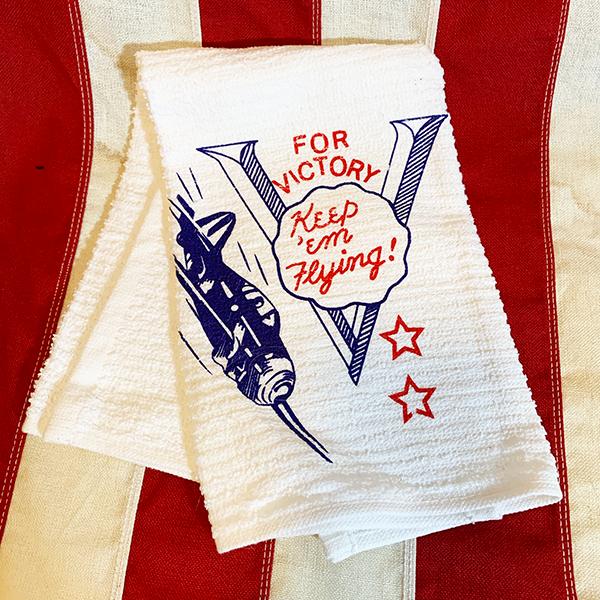 WWII V for Victory Keep 'em Flying Towel