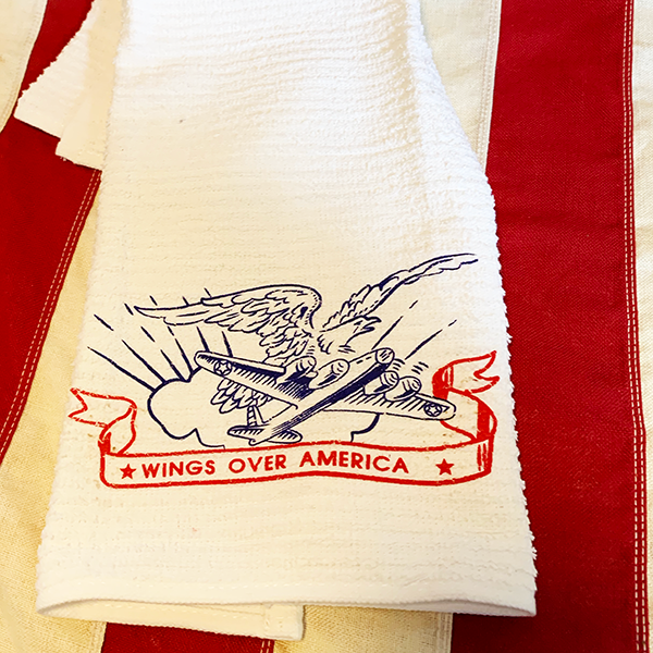WWII Wings Over America Towel Reproduction