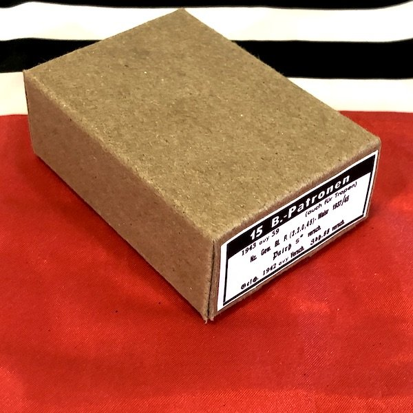 German B Patronen Explosive Incendiary / Observation Ammo Cartridge Box , WWII Repro