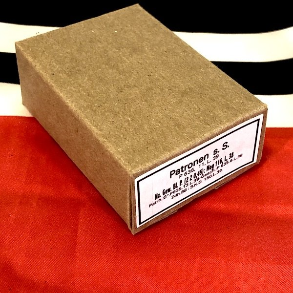 German K98k Patronen SS Brass Ammo Cartridge Box , WWII Repro