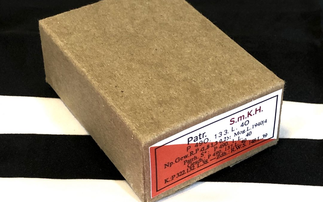 German Patronen SmKH Super Armor Piercing Ammo Cartridge Box , WWII Repro