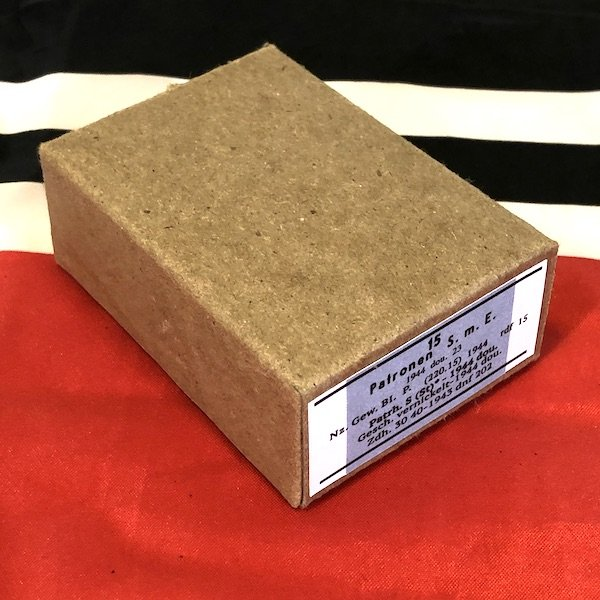 German S m E Patronen Semi Armor Piercing Ammo Cartridge Box , WWII Repro