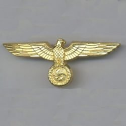 WWII German General Gold Eagle Cap Heer Kreigsmarine WW2