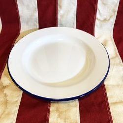 Enamel Dinner Plate WW!! WW2