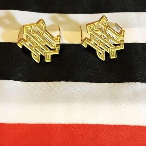 WWII LAH German Army Shoulder Board Cyphers Gold WW2